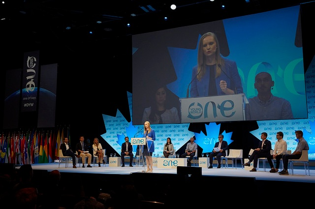 Florence Broderick giving a speech