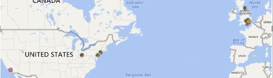 map showing anonomous data
