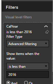 Example of the advanced filter.