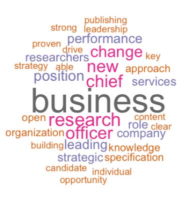 Job description publishing sector