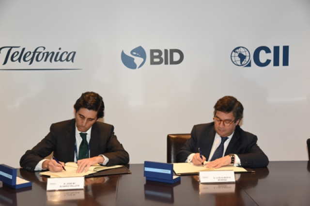 CEO of Telefónica and the president of the IDB