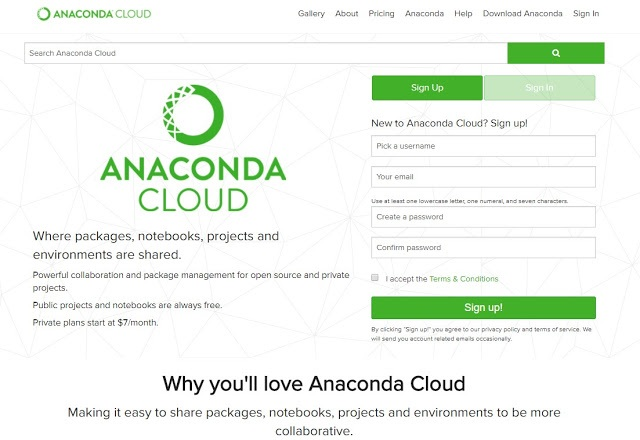 Anaconda Cloud.