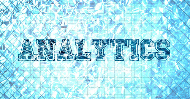 Graphic showing the word Analytics at the bottom of a swimming pool