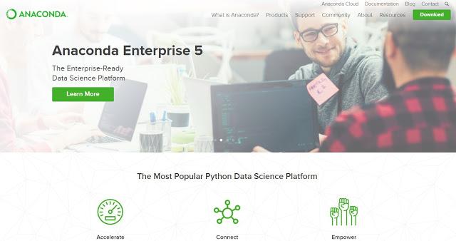Homepage de Anaconda.
