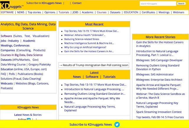 KDnuggets webpage