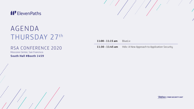 Agenda ElevenPaths thursday 27 RSA Conference 2020