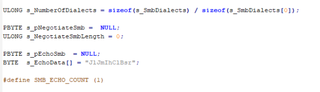 Part of the svrcall.c code
